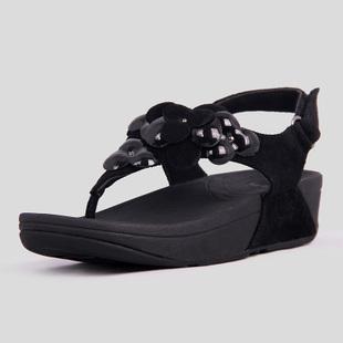 5c87fba87 Fitflop Womens Fleur Black Fitness Sandals  Fitflop-00119  -  65.62 ...